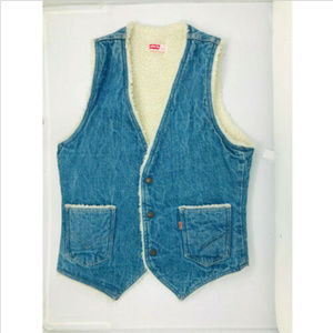 Vintage Levi's Sherpa Lined Denim Vest Small